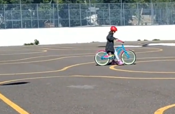 Calleigh learns to bike